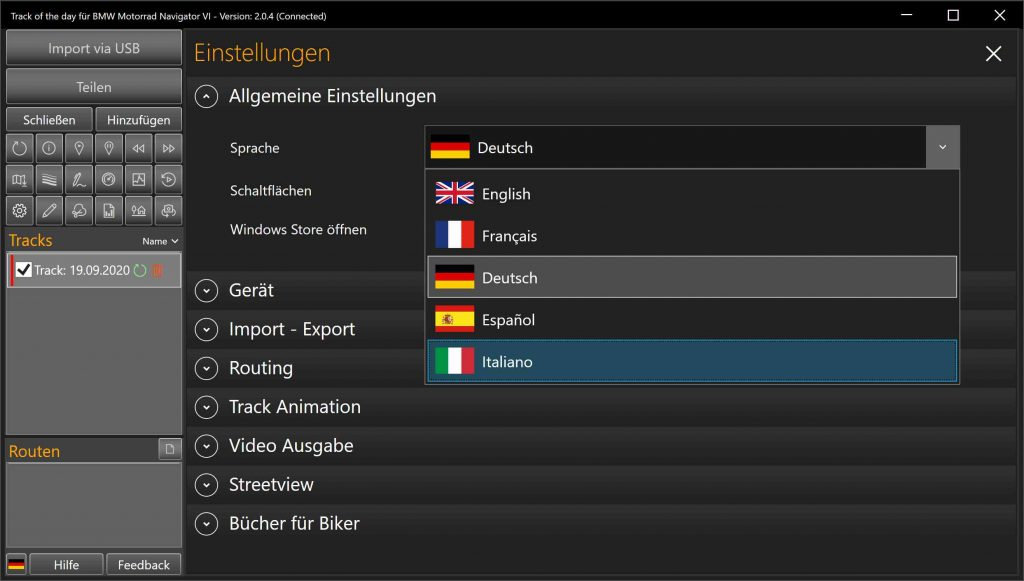 Track of the day - Für GPX Geräte