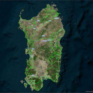 Routing Overlay Sardinia Sardinien