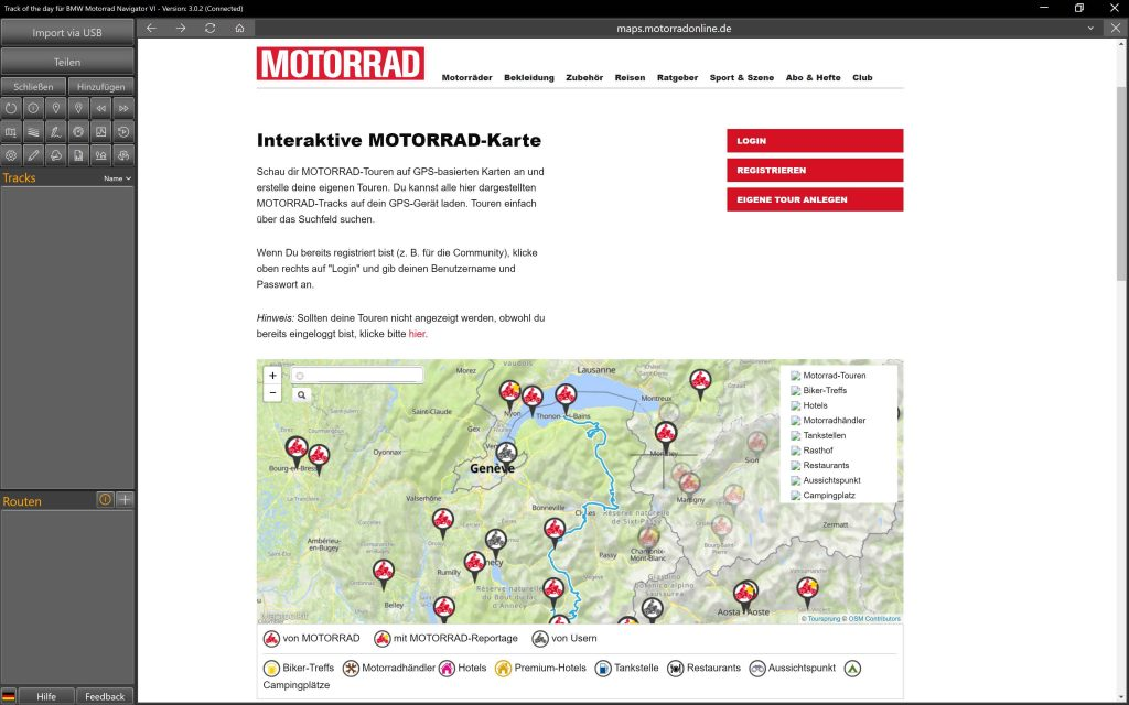 Track of the day, MOTORRAD online
